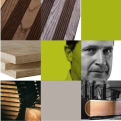 Mosaic of oak wood products