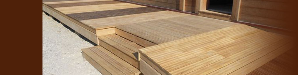 Hardwood decking natural thermowood